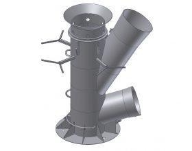 Blasenschleier Tripod-Gründungsstruktur