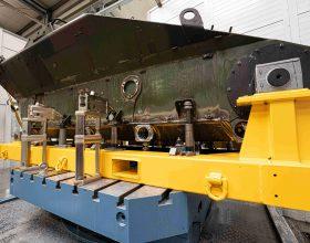 Bohrwerksbearbeitung Kettenfahrzeug