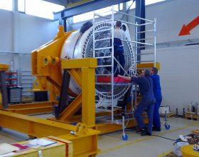 Getriebeteststand 3 MW - Montage