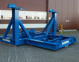 Transportgestell Getriebe 5 MW