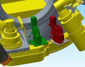 Vorrichtungsentwicklung: Bauraumkontrolle Magnetbohrmaschine