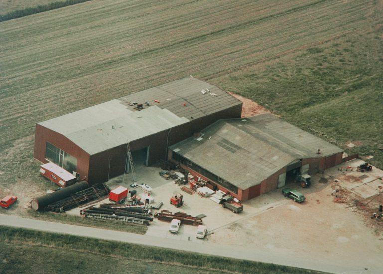 Neubau Stahlbauhalle 1979