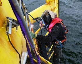 Schweißarbeiten Forschungsplattform FINO (Windenergie)
