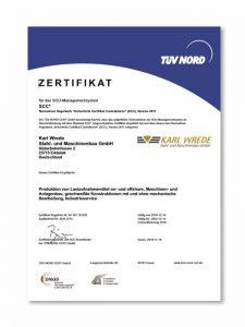 certificate TÜV SGU-SCC