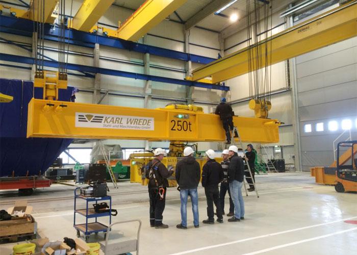 assembling bridge - lifting device 250 t