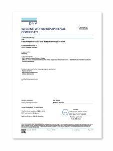 DNV - WELDING WORKSHOP APPROVAL CERTIFICATE - WWA0000273