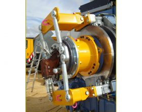 hydraulical rotary drive system for drive train 3 MW (single blade installation)