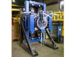 hydraulical rotary drive system for drive train 6 MW offshore (single blade installation) - test assembly