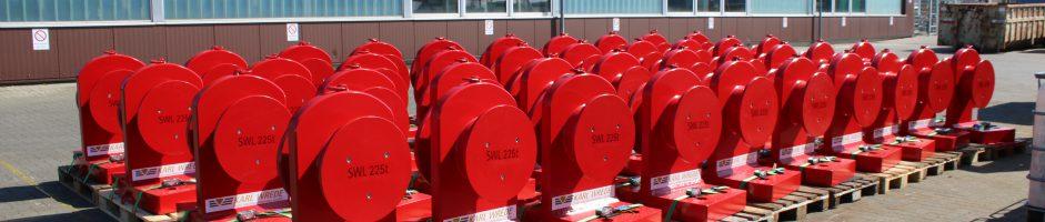 Lieferung von 116 Stück Anschlagpunkten mit einer Tragfähigkeit von SWL 450 t