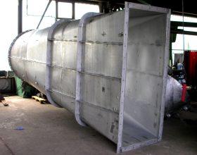raw gas channel round to rectangular