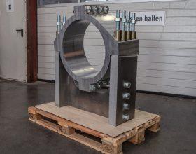 Rotorwellenhalteklammer Siemens 2,3 MW