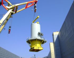 spreader, lifting gear and transport frame for tower section 5 MW