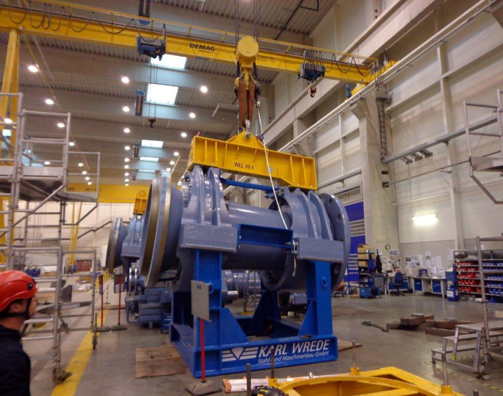 transport frame rotor shaft assembly 5/6 MW