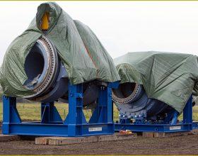Offshore-Transportgestell Rotortwellenbaugruppe und Getriebe 5 MW